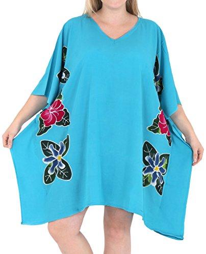 La Leela sueltos sundress diseñador de trajes de baño traje de baño bikini traje de baño de los encubrimientos de las mujeres Turquesa