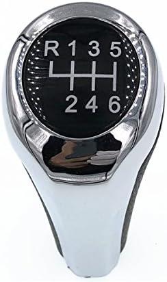 Auto Pomello Cambio,Pomello Leva Cambio,per BMW 1 3 5 6 Serie X1 X3 X5 6//5 Speed Manopola pomello Cambio Manuale 6 Marce