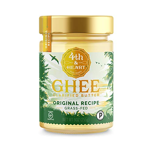 Original Grass-Fed Ghee Butter by 4th & Heart, 9 Ounce, Pasture Raised, Non-GMO, Lactose Free, Certified Paleo, Keto-Friendly