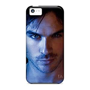 Shockproof Cell-phone Hard Covers For Iphone 5c With Allow Personal Design Fashion Ian Somerhalder Pictures Cases-best-covers