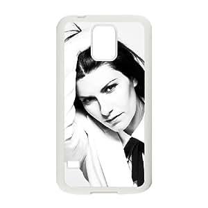 caso de Laura Pausini D4P18H4SH funda Samsung Galaxy S5 funda 4JGE46 blanco