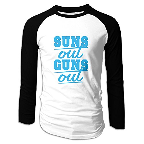 Creamfly Mens Sun's Out Guns Out Long Sleeve Raglan Baseball Tshirt - Sunglasses Oakley Cheap Mens