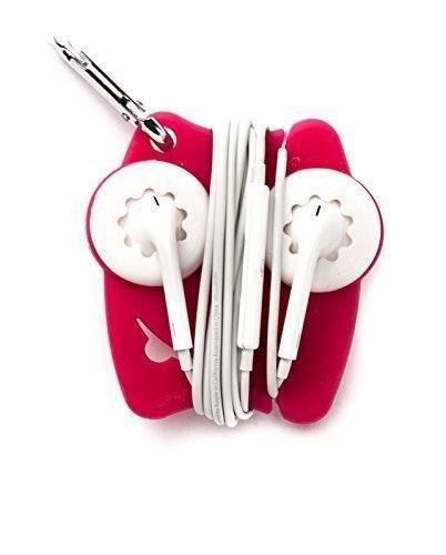 Grapperz Earbud Holder / Protector / Cord Wrapper - Pink