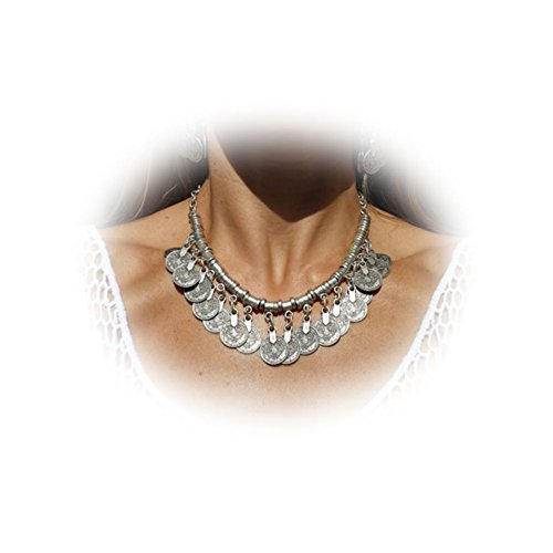 Boosic Tribal Silver Necklace Jewelry