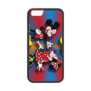 Disney Mickey Mouse Minnie Mouse iPhone 6 4.7 Inch Cell Phone Case Black Customized Toy pxf005_9670825