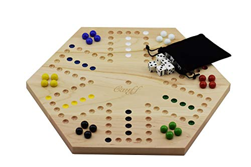 Solid Maple Double Sided Aggravation Marbles Board Game Hand Painted 20 inch ()