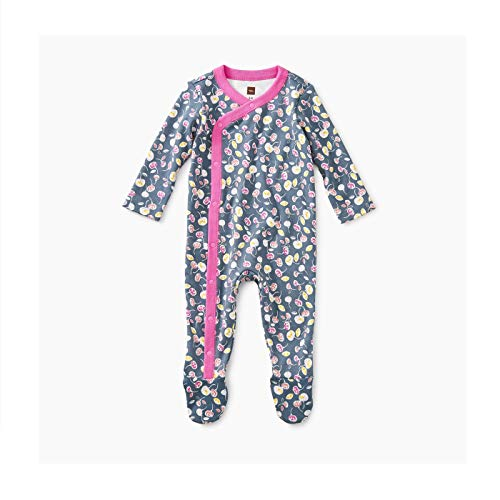 - Tea Collection Footed Romper, 6-9 Months, Itsy Bitsy Ditsy