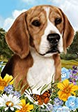 "Beagle Dog – Tamara Burnett Summer Flowers House Dog Breed Flag 28"" x 40"" Review"