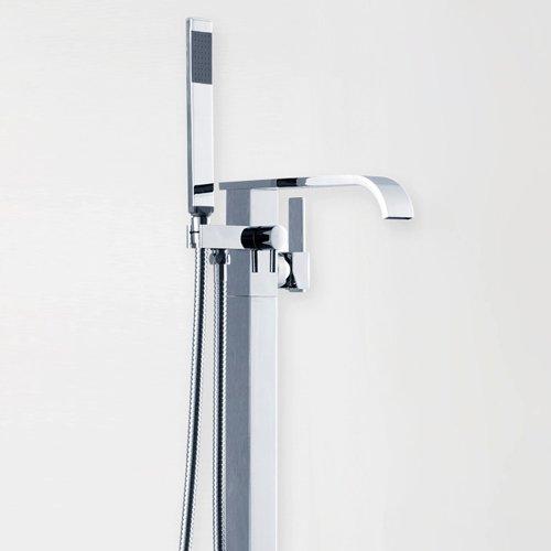 JiaYouJia Mini Single Handle Floor Mount Clawfoot Tub Faucet best