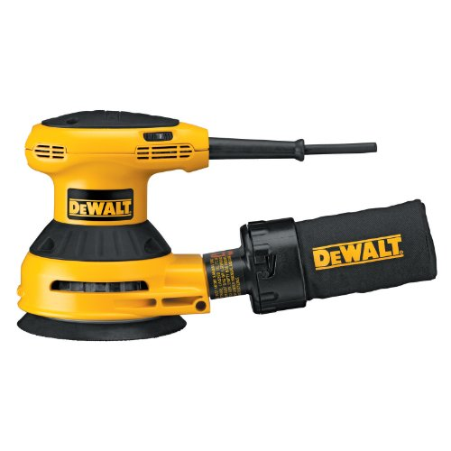 DEWALT D26453 3 Amp 5-Inch Variable Speed Random Orbit Sander with Cloth Dust Bag