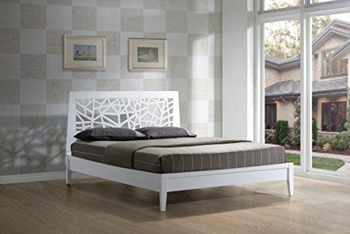 Wholesale Interiors Baxton Studio Solid Wooden Platform Base Bed Frame, Queen, White