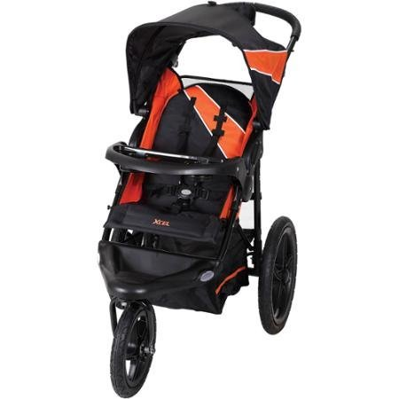 Baby Trend XCEL Jogging Stroller, Tiger Lily Provides a more Secure and Comfortable Ride for your Baby