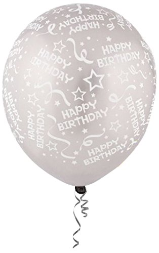 120 Ct. Party Decor Assorted Colors Birthday Stars Latex Balloons