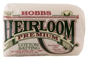 Hobbs Heirloom Premium 80/20 Cotton Blend Batting - 96'' X 15 Yards by Hobbs Bonded Fibers