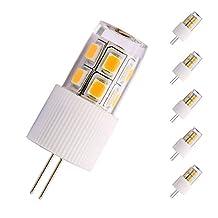 DunGu G4 LED Bulbs 12V AC DC Bi Pin Lights Bulb FCC Certified 2Watt Warm White 2700K 20Watt Halogen Equivalents Non Dimmable Units of 6