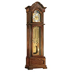 Hermle 01093031171 Temple Grandfather Clock with Tubular Chimes - Walnut