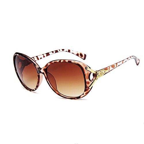 Gafas Sol Moolo Sra Classic de Box Anti HLMMM Color Head Wild Sunglasses Fox Progressive UVA Leopardo Purple 55qxwIS