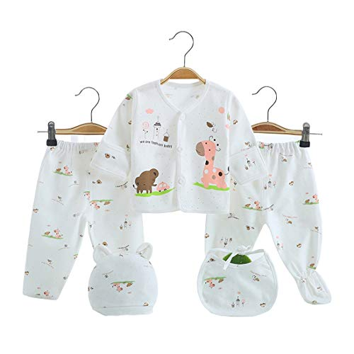 5PCS Newborn Girl Boy Clothes Unisex Photography Outfits Baby Gifts Layette Sets Pink