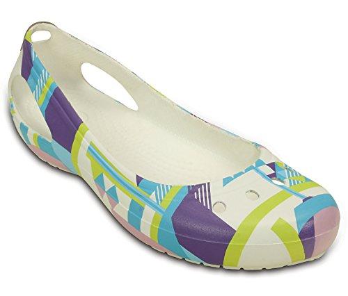 Crocs - Botas para mujer blanco y multicolor