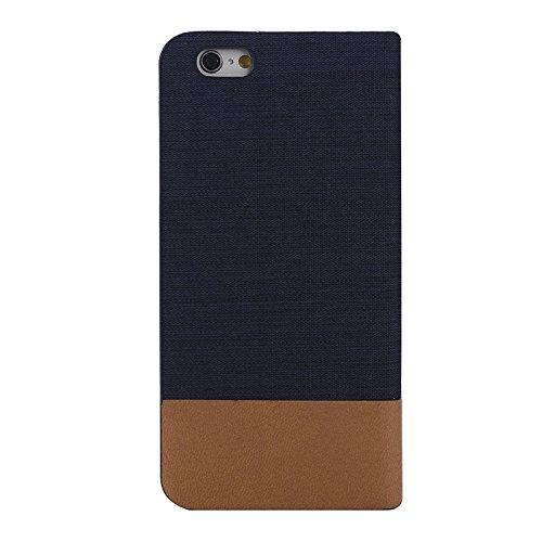 Funda Iphone, Caja de cuero horizontal de la lona del tirón con la ranura para tarjeta y el sostenedor para el iPhone 6 y 6S ( SKU : S-IP6G-0886C ) S-IP6G-0886D