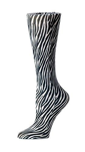 (Cutieful Women's Nylon 8-15 Mmhg Compression Sock Zebra)