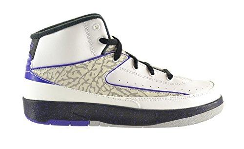 Jordan 2 Retro  Little Kids Shoes White/Dark Concord-Black-W