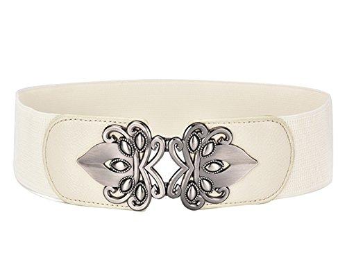 Wholesale Designer Belts (E-Clover Designer Metal Buckle Women's Elastic Waist Cinch Belt)