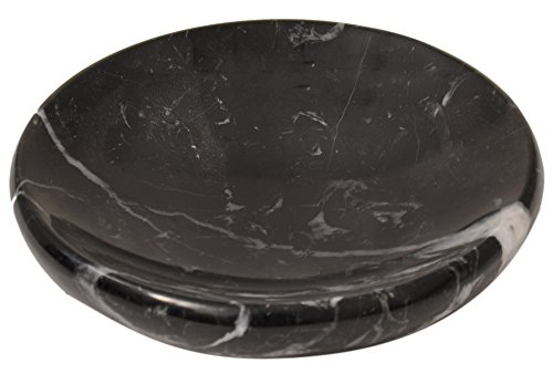 CraftsOfEgypt Black Marble Soap Dish - Polished and Shiny Marble Dish Holder – Beautifully Crafted Bathroom ()