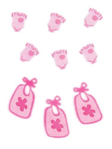 Jolee's Boutique Scrapbooking Embellishment, Baby Girl Pajamas and Bibs -