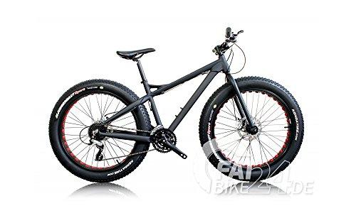 BH BIKES Big Foot Fat Bike Fatbike Mountenbike MTB mit 4 Zoll Kenda Reifen Cut Out Alufelgen und Hydraulischen Scheibenbremsen Modell 2016 (Schwarz Gelb)