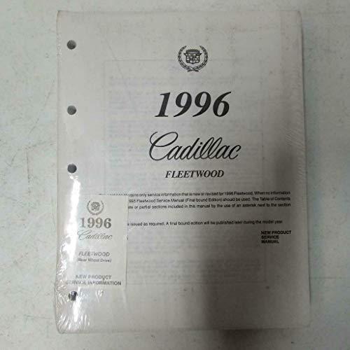 1996 Cadillac Fleetwood New Product Service Information Manual (Rear Wheel Drive)