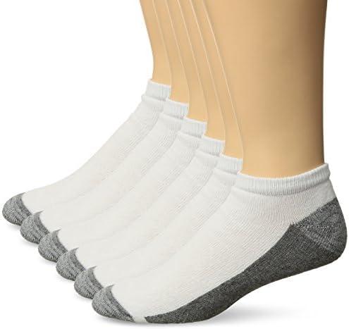 Hanes Men's Comfortblend Max Cushion 6-pack White Low Cut Socks, Shoe Size: 6-12