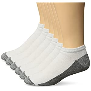 Hanes Men's Comfortblend Max Cushion 6-pack White Low Cut Socks