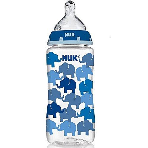 NUK Trendline Bottle with Silicone Medium Flow Nipple, 0+ mo