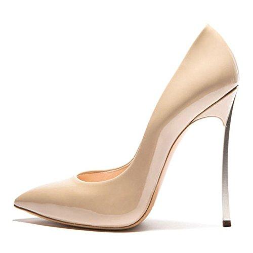 AIWEIYi Dress Metallic 15nude Shoes Pumps Womens Stiletto Toe Heel Pointed High Heels 1rwUzq1