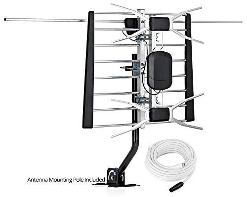 ViewTV WA-2900G-UV Digital Amplified Outdoor/Indoor Attic HDTV Antenna with Mounting Pole - 200 Miles Range