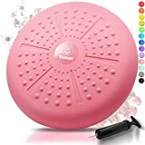 Tumaz Wobble Cushion - Wiggle Seat for Improve Sitting Posture & Attention Also Stability Balance Disc to Physical Therapy, Relief Back Pain & Core Strength for All Ages [Extra Thick, Pump Included]