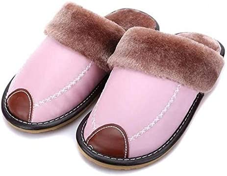 TD コットンスリッパ 秋と冬暖かい綿ホームスリッパ室内で男性と女性のピンクのスリッパ 快適な