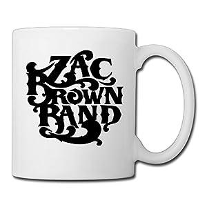 Christina Zac Brown Band Logo Ceramic Coffee Mug Tea Cup White