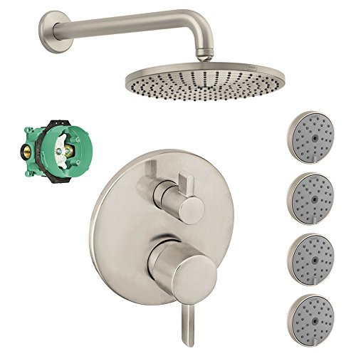 hansgrohe-ksb04231-27474-77bn-raindance-downpour-air-showerhead-kit-with-4-body-sprays-thermostatic-