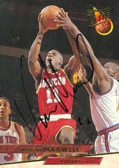 Vernon Maxwell autographed Basketball Card (Houston Rocke...