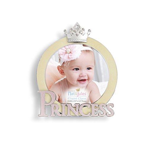 Demdaco Baby Frame, Princess Baby Nursery Photo Frame