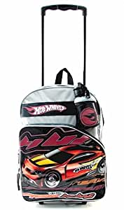 Amazon.com: Hot Wheels Rolling Backpack Black and Grey