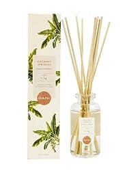 DANI Naturals Essential Oil Reed Diffuser, 3-Ounce, Coconut Hibiscus