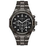 Bulova Men's Quartz Stainless Steel Casual Watch, Color:Grey (Model: 98D142)