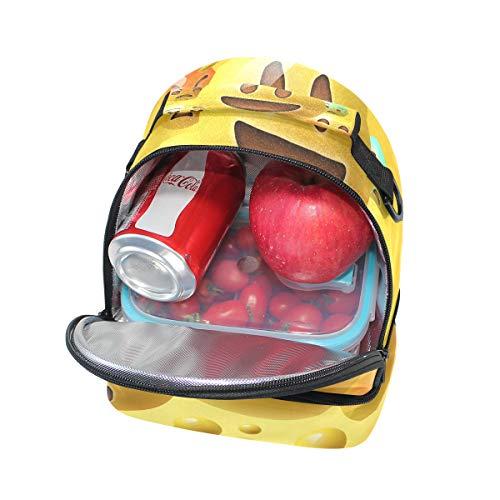 correa de color para hombro para almuerzo el Bolso doble ajustable pícnic amarillo 6nBw1q81x