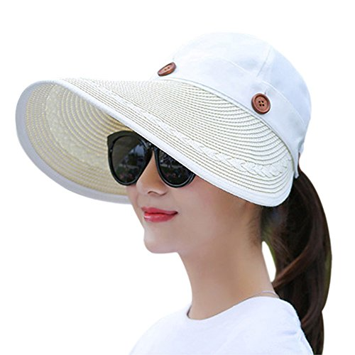 Muryobao Women's Wide Brim Floppy Hat Packable Straw Sun Caps...