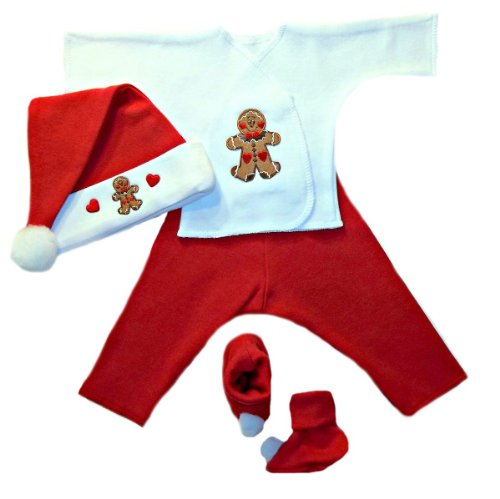 Gingerbread Man Small Newborn and Preemie Christmas Outfit
