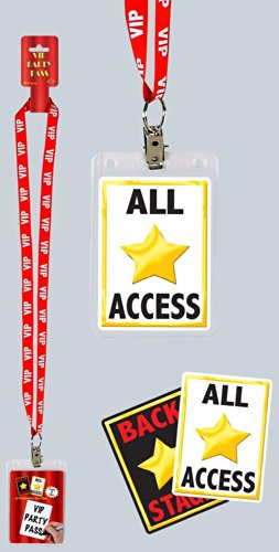 Celeb In Halloween Costumes (VIP Party Pass Party Accessory (1 count) (1/Pkg))
