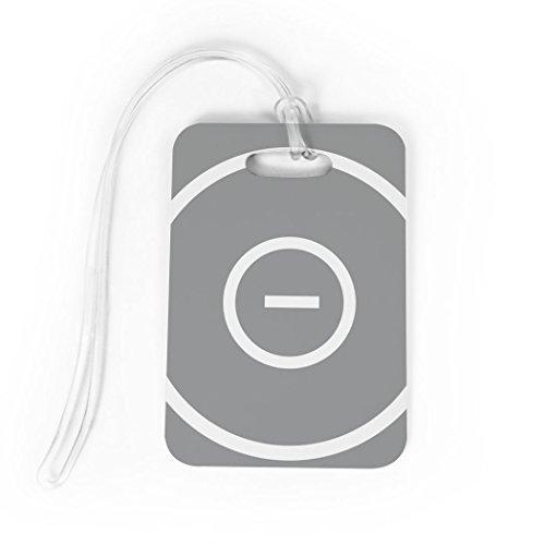 Wrestling Luggage & Bag Tag | Wrestling Ring | Custom Info on Back | MEDIUM | GRAY by ChalkTalkSPORTS